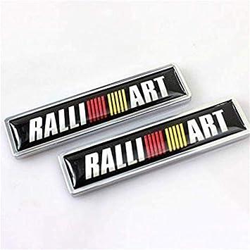 2 adesivi per auto con stemma posteriore per Mitsubishi Ralliart