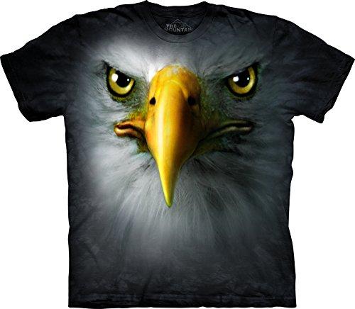 The Mountain Men's Eagle Head Face T-Shirt Black - Eagle Head Eagles