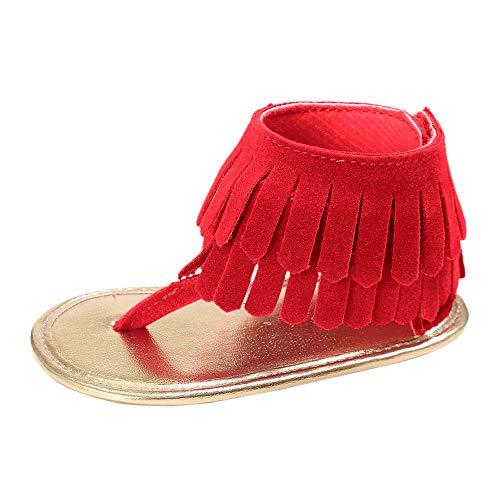 Creazrise Toddler Sandals,Baby Tassels Sandals Newborn Soft Sole Summer Shoes Girl Bohemian Style Sandals