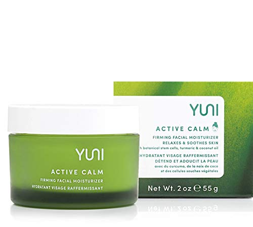 YUNI Beauty Facial Moisturizer & Skin Firming Lotion (2oz) Active Calm Face & Neck Firming Cream – Intense, Deep…
