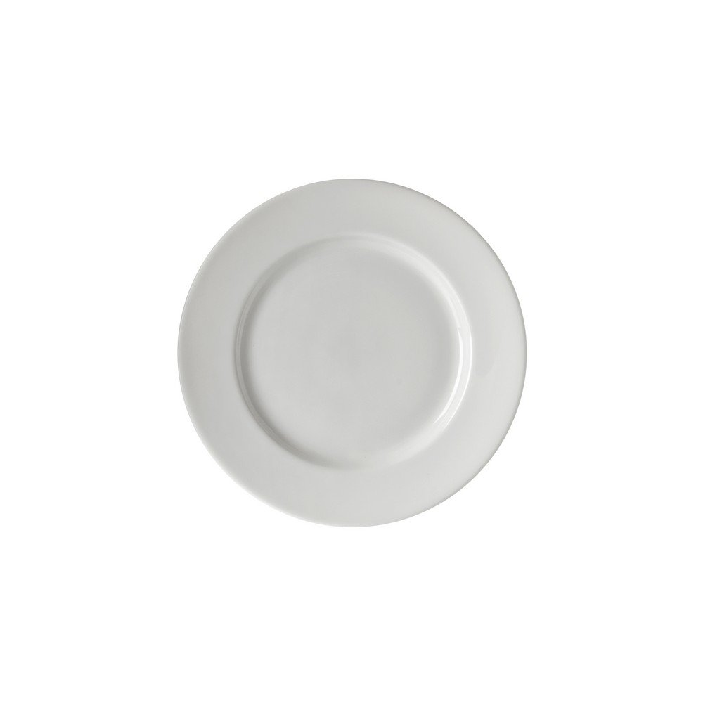 10 Strawberry Street Z-Ware Porcelain 6'' Bread & Butter Plate, Set of 6, White