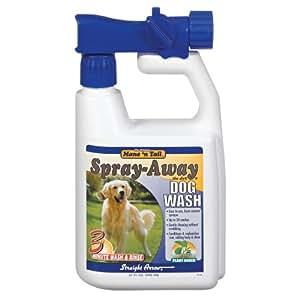 Straight Arrow Mane N Tail Spray Away Dog Wash, 32-Ounce