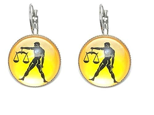 Fashion Trendy - Libra Zodiac Sign Dangle Earrings For Women / AZEACRM06-LIB