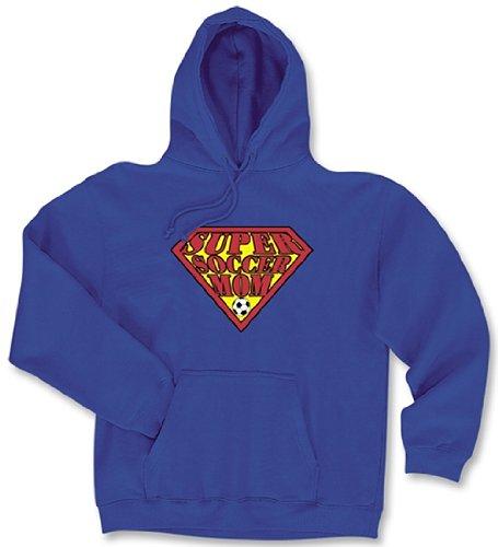 Hooded Soccer Sweatshirt: Super Soccer Mom-Adult - Soccer Mom Super Sweatshirt