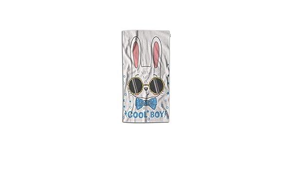 Amazon Com Ntjpmy Rabbit Hand Towel Cool Animal Easter Bunny Boy