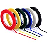 6 Roll Multicolor Desktop Positioning Crossed Tape - 72 Yards/Roll - 3mm/5mm Width Self-adhesive Grid Marking Tapes Unmarked Whiteboard Attention Line (Color Random Mixing Send) (3mm Width)