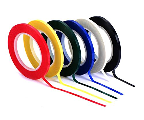 6 Roll Multicolor Desktop Positioning Crossed Tape   72 Yards Roll   3Mm 5Mm Width Self Adhesive Grid Marking Tapes Unmarked Whiteboard Attention Line  Color Random Mixing Send   3Mm Width