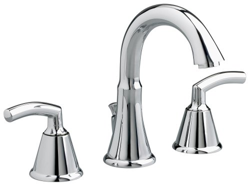 American Standard 7038.801.002 Tropic Two-Lever Handle Widespread Lavatory Faucet with Metal Speed Connect Pop Up Drain, Polished Chrome Transitional 8 Lavatory Faucet
