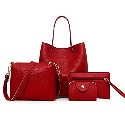 b567bdb8eb46 Amazon.com: DingXiong 4pcs/Set PU Leather Lady's Crossbody Bags 2018 ...