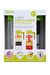 Takeya 4 Piece Drink Maker Pitcher Set