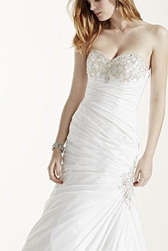 Wedding Beaded Style Petite Dress 7V3476 Taffeta Ivory with Bustline 54n4wxvTY