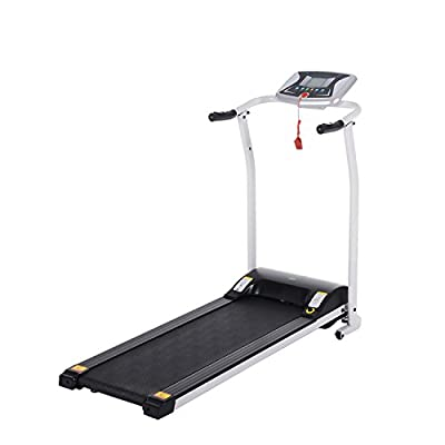 Lantusi Easy Assembly Folding Electric Treadmill Running Training Machine Equipment for Home (US STOCK)