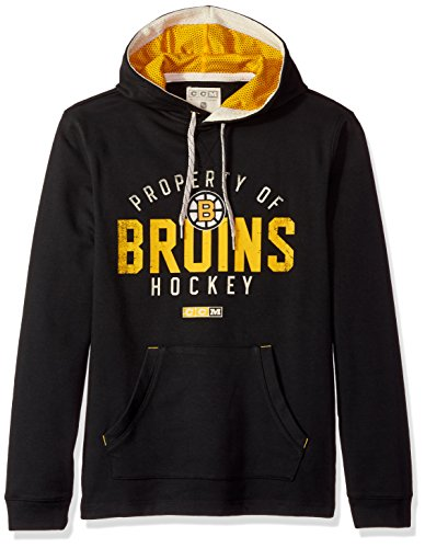 Black Boston Bruins Sweatshirt (NHL Boston Bruins Mens Ccm Casual Pullover Hoodccm Casual Pullover Hood, Black, Small)