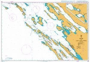 Ba Chart 515  Zadar to Luka Mali losinj by United Kingdom Hydrographic Office