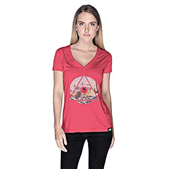 Creo Palestine T-Shirt For Women - L, Pink