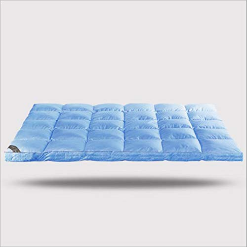 LZYCL Quilted Fitted Mattress Topper, Soft Mattress Pad Waterproof Hypoallergenic Mattress Cover Cooling Mattress Home,Hotel Featherbed-Blue 120x200cm(47x79inch) from LZYCL