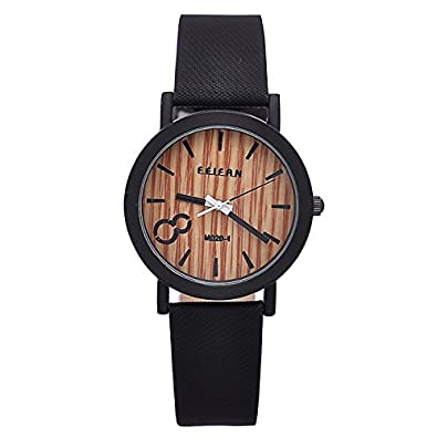 Simulation Wooden Relojes Quartz Men Watches Casual Wooden Color Leather Strap Watch Wood Male Wristwatch Relogio