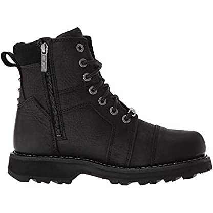 Harley Davidson Oakleigh D84276 Leather Womens Boots - Black - W - 37 1