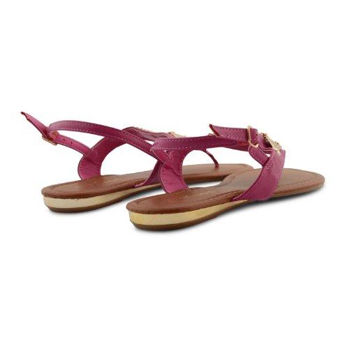 para negro fucsia Footwear Sandalias negro mujer Sensation negro xACw7