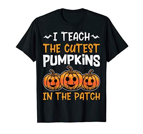 Halloween Shirt Pre-K Teacher Cutest Pumpkins T-Shirt -