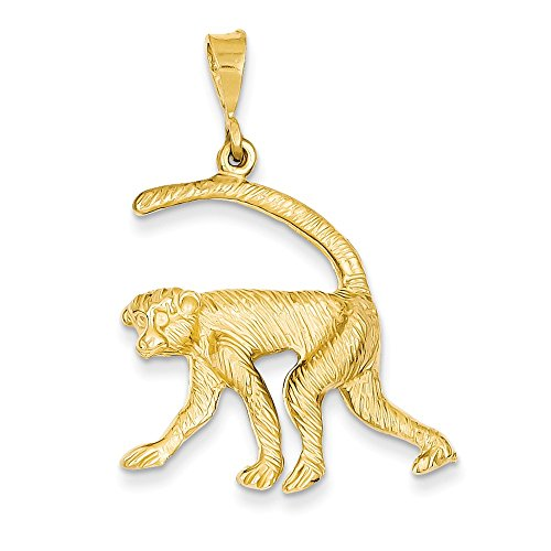 14k Yellow Gold Monkey Charm Pendant 14k Yellow Gold Monkey