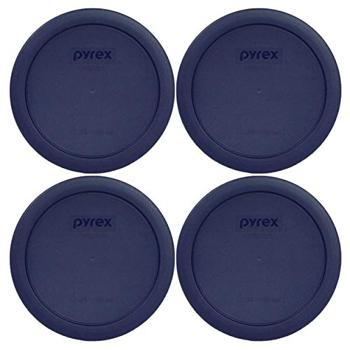 - Pyrex 4 Cup Round Plastic Cover, Navy Blue