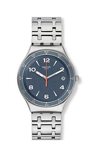 Swatch Men's Enrik YGS479G Silver Stainless-Steel Swiss Quartz Fashion Watch