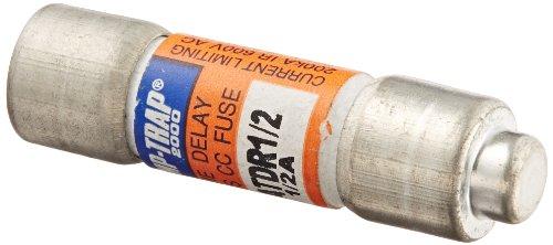 "Mersen ATDR Amp-Trap 2000 Time-Delay/Class CC Fuse, 600VAC/300VDC, 200kA AC/100kA DC, 0.5 Ampere, 13/32"" Diameter x 1-1/2"" Length"