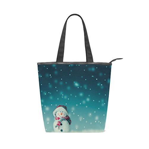 MyDaily Snowman Christmas Cute Handbag Tote Womens Bag Canvas Shoulder 6rxTa6Zw