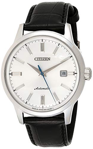 CITIZEN Mens Mechanical Watch, Analog Display and Leather Strap - NK0000-10A