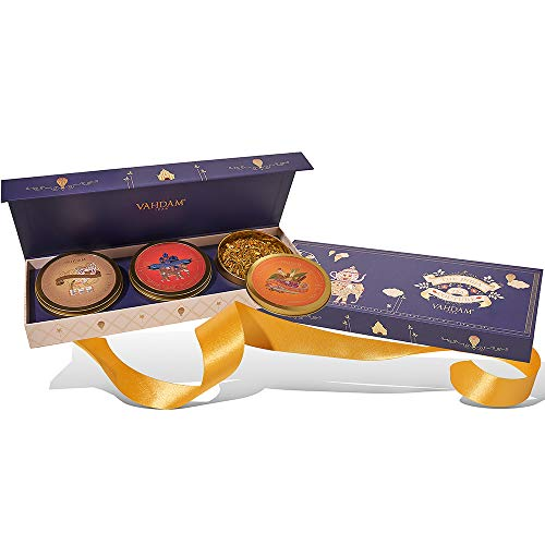 VAHDAM, Indian Tea Couture - 3 Teas in a Tea Sampler Gift Box | OPRAH'S FAVORITE TEA 2019 | Packed at Source in India - Holiday Gifts for Men | Gifts for Dad | Men Gifts | Tea Gifts Set (Unique Wedding Gifts For Couples In India)