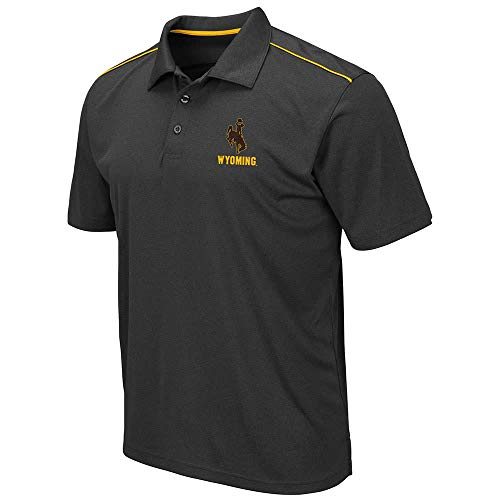 Mens Wyoming Cowboys Eagle Short Sleeve Polo Shirt - XL