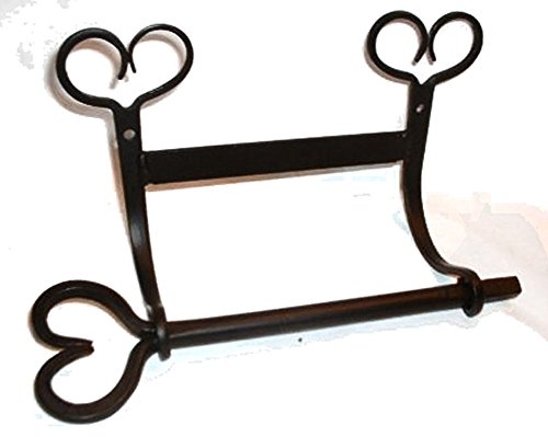 Wrought Iron Toilet Paper Holder Heart -2 Part ()