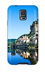 Premium Durable Beautiful Reflection Blue Lake Old Buildings Reflections Nature Other Fashion Tpu Galaxy S5 Protective Case Cover