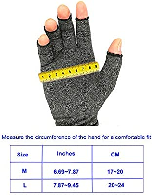 Rheumatoid Arthritis Hands Arthritis Gloves Pain Relief Osteoarthritis Treatment Support Tendonitis Therapeutic Compression Brace Muscle Tension Alleviate Carpal Tunnel Aches Raynauds Open Finger L