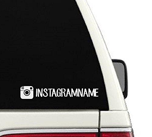 Instagram Username Car Decal- Branding/ Advertising Car Sticker - Shop Instagram On
