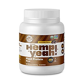 Manitoba Harvest Hemp Yeah! Organic Plant-Based Protein Powder, Chocolate, 16oz; with 20g of Complete Plant Protein (Hemp + Pea), 4g of Fiber & 1.9g Omegas 3&6 Per Serving Per Serving, Non-GMO, Vegan