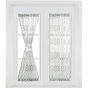 Amazon Com Sheer Voile 72 Inch French Door Curtain Panel