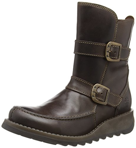 Brown 001 Dk Sann351fly Women's Boots Ankle London Brown Fly wFXvqT7w