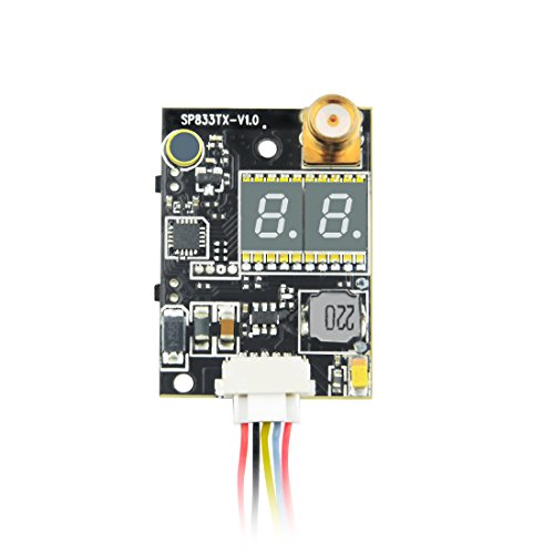 z 600mW Mini FPV Transmitter Double LED Display FPV Audio Video Transmitter (5.8 Ghz Audio Video Transmitter)