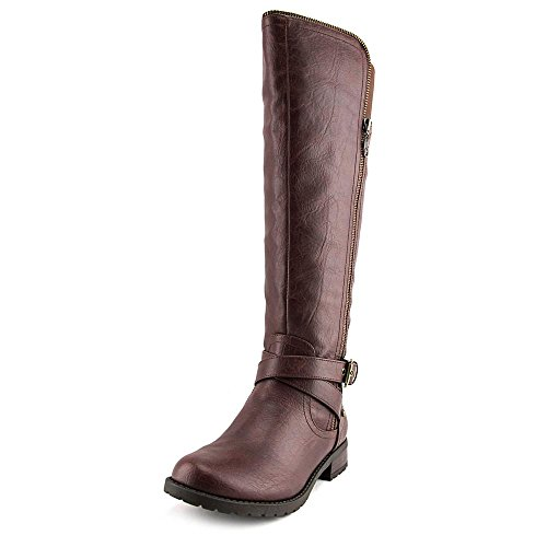 Halsey by Toe High Riding Brown Round Womens G GUESS Boots Dark Knee nFTxZ