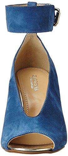 Gardenia Copenhagen Coltina, Sandales Bout Ouvert Femme Bleu (Suede Jeans)