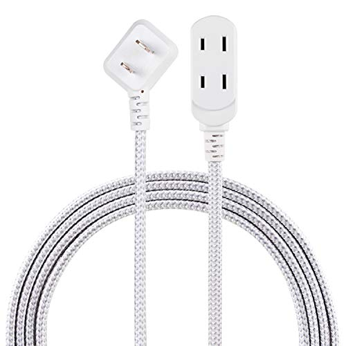 Philips Accessories, Gray/White, Philips 3 Extension, 8 Ft Long Cord, Polarized Outlets, Flat Plug, Perfect for Home or…