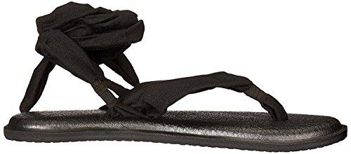Sanuk Women's Yoga Slinged Up Gladiator Sandal Noir Zdpy60