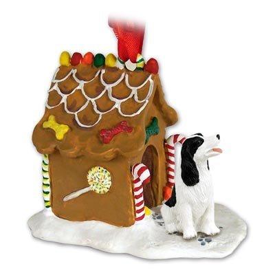 - Eyedeal Figurines Springer Spaniel Dog Black New Resin Gingerbread House Christmas Ornament 22B