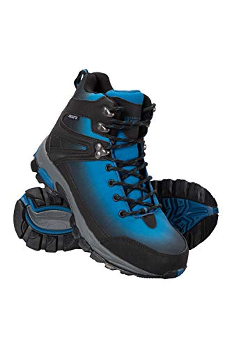 Blue Womens Snowboard Boots - Mountain Warehouse Intrepid Womens Softshell Boots - Waterproof Shoes Teal 8 M US Women