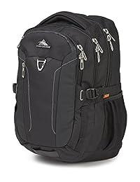 High Sierra 70506-1041 Tephra Backpack, Black, International Carry-On
