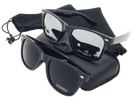 2569e3af5dd672 PURECITY© Produit Original - Lot de 2 Paires de lunettes de soleil style  Wayfarer -