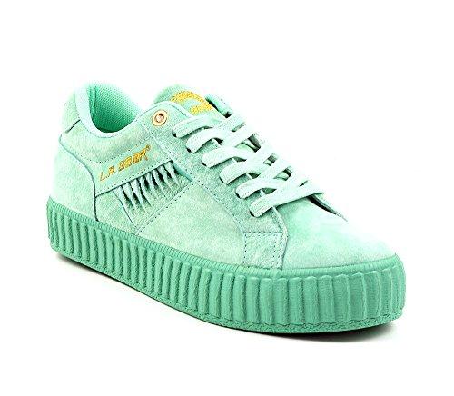 L.A. Gear Leder Sneaker Flame Low Green Suede Größe 37/UK 4