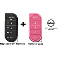 Viper 7856V 2 Way LED Remote Transmitter with a Pink Colored Cover 87856VP and a FREE SOTS Air Freshener